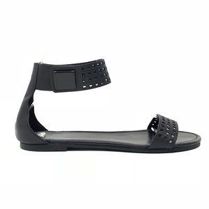 Cole Haan Black Leather Flat Rhoads Sandals II